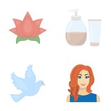 entertainment, cosmetology, hairdresser and other web icon in cartoon style.red, makeup, business, icons in set collection.