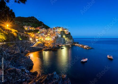 Staande foto Liguria Manarola in der Nacht, Cinque Terre