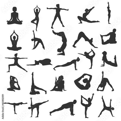 Fototapeta Yoga silhouette