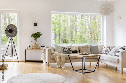 White furniture in room - 163806489