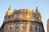 Genova, Italy - December 2016 view of the roman buildings in Piazza de Ferrari.