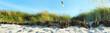 Leinwandbild Motiv Strand Dünen - Panorama