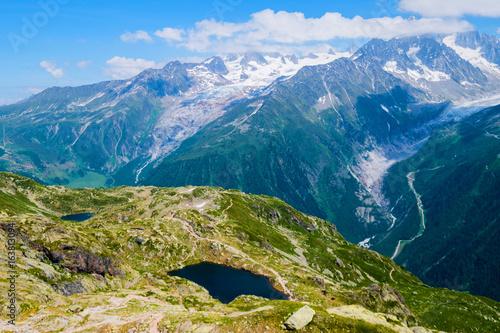 Mont Blanc and lake