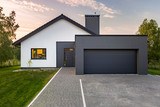 Modern house with garage - 163838423