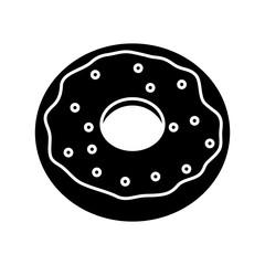sweet donut icon over white background vector illustration