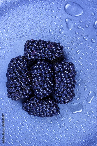 Fresh blackberries from the forest - 163843877