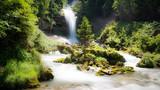 Fototapety Wasserfall; Giessbachfälle im Berner Oberland bei Brienz, Schweiz