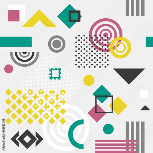 Trendy seamless geometric pattern,  vector illustration