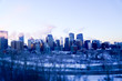 Calgary frozen skyline