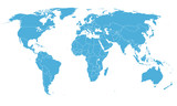 World simple map on white background