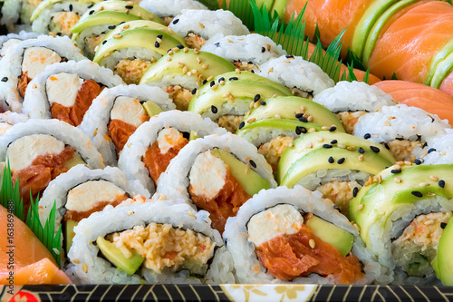 Fototapeta Sushi Roll Platter Closeup
