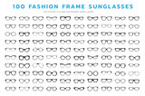 Glasses  icons. Sunglasses, glasses, isolated on white background ,Various shapes in vector illustrations.