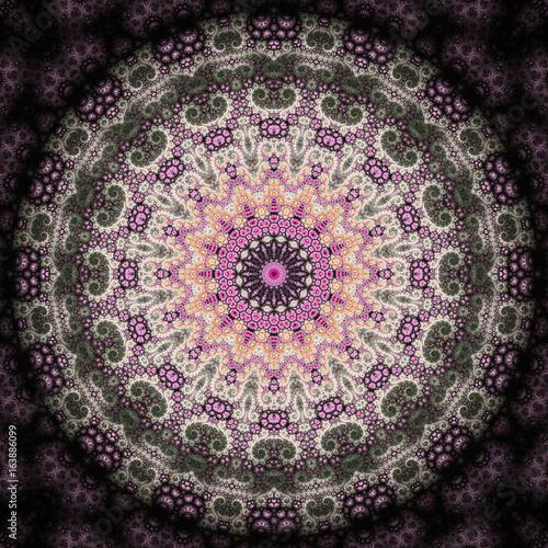 Abstract fractal design, artistic illustration - 163886099
