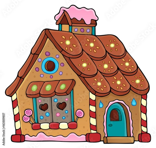 Gingerbread house theme image 1