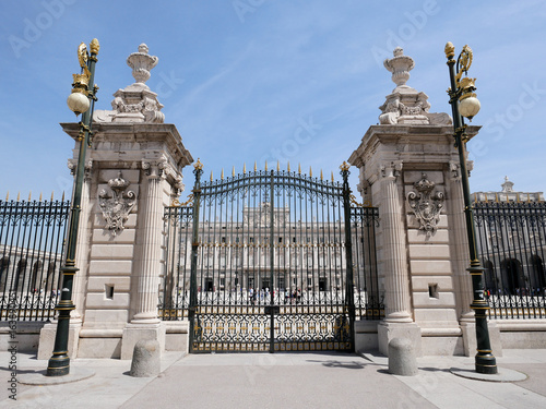 Gate of Palacio Real de Madrid or Royal Palace of Madrid in Spain Poster