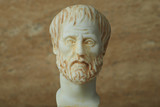 Statue of ancient Greek philosopher Aristotle. - 163895623