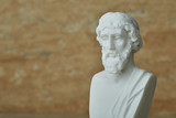Statue of ancient Greek philosopher Plato. - 163896280