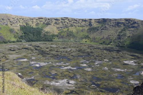 Rano Kau (volcano caledera) on Easter Island (Rapa Nui)