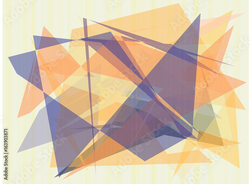 Fotobehang Abstractie Abstract vector background. Color composition of overlapping geometric shapes.