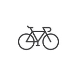 Bike, Bicycle line icon, outline vector sign, linear style pictogram isolated on white. Cycling symbol, logo illustration. Editable stroke. Pixel perfect graphics