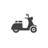 Scooter icon vector, filled flat sign, solid pictogram isolated on white. Delivery symbol, logo illustration. Pixel perfect graphics