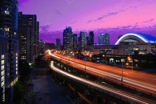 View by the Gardiner Expressway in Toronto