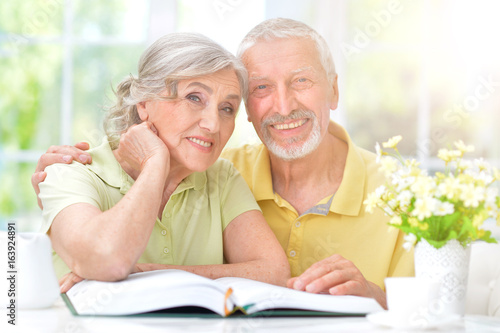 Portrait of happy senior couple - 163924891