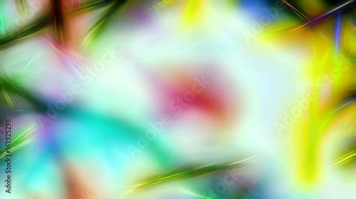 background pattern with fractal needle structures and blurred radiant lights