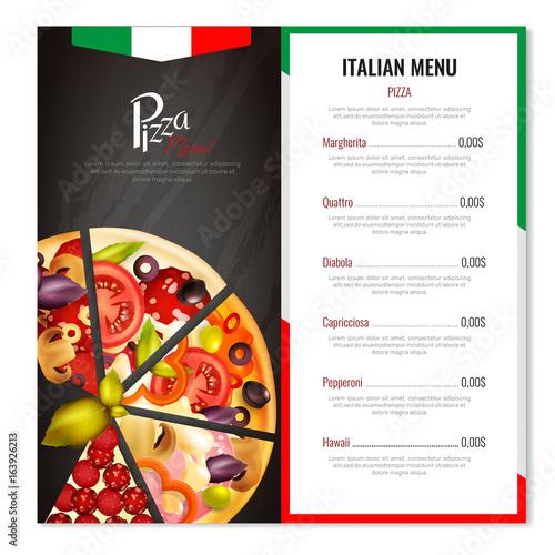 Italian Pizza Menu Design