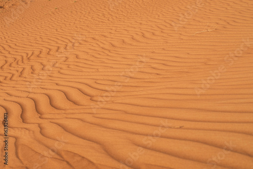 Foto op Canvas Baksteen Nature desert sand dunes wave in UAE, Middle East