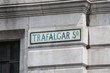 Trafalgar Square Street Sign in London