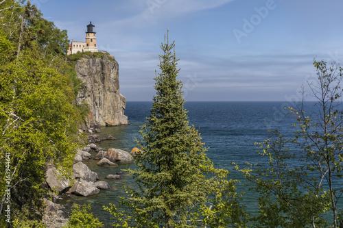Split Rock Lighthouse / A lighthouse on a cliff along Lake Superior.