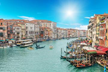 Venice city and canal on sunny days