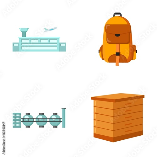 transport, oil refining and other web icon in cartoon style.tourism, beekeeping icons in set collection.