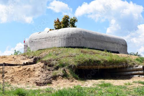Zabytkowy bunkier, schron z czasów II Wojny Światowej