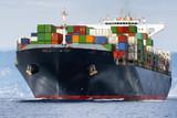 Międzynarodowy statek towarowy kontenerowy