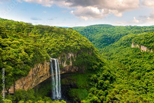 Waterfall in Caracol Park in Rio Grande do Sul, Brazil - 163990868