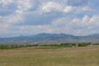 View of Rocky Mountain foothills and Front Range prairie from Standley Lake Regional Park in Westminster Colorado