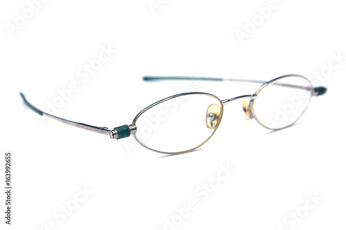 Retro glasses isolated on white background плакат