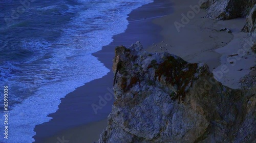 Rocky Beach at Big Sur California in the evening