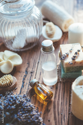 Homemade spa cosmetics and soap