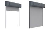 metal shutter door - 164016234