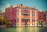 Beautiful summer view of venice channel