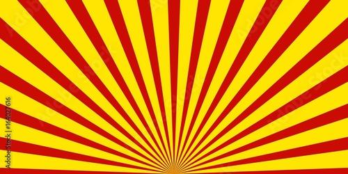 Strahlenmuster breit: Rot und Gelb