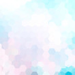 Abstract hexagons vector background. Pastel geometric vector illustration. Creative design template. Pink, blue, white colors.