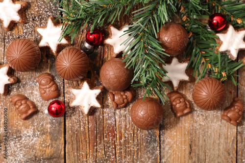chocolate and cookies christmas - 164030690