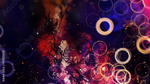abstract fresh design background with light circle pattern and shiny colours.