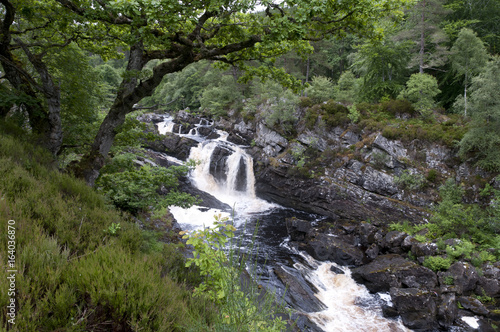 Rogie Falls in the Highlands of Scotland - 164036870
