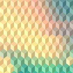 fototapeta 3D niebieskie kwadraty