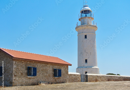 Lighthouse in archaeological park in Kato Paphos, Cyprus.